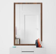 Зеркало 900×1400 мм осветленное в деревянной раме