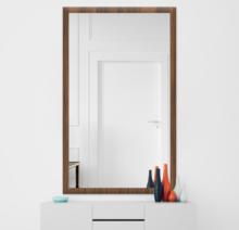 Зеркало 900×1600 мм осветленное в деревянной раме