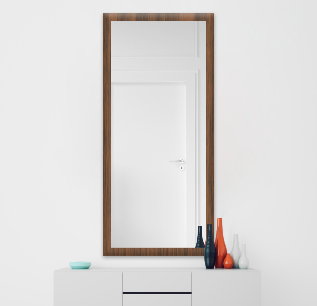 Зеркало 400×1000 мм в деревянной раме