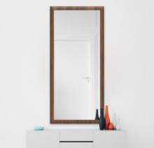 Зеркало 500×1200 мм осветленное в деревянной раме