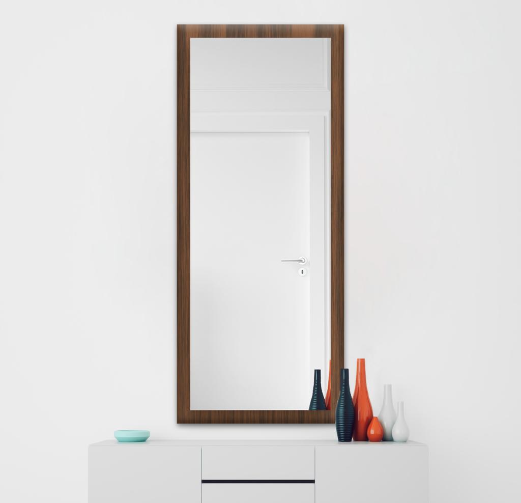 Зеркало 500×1400 мм в деревянной раме