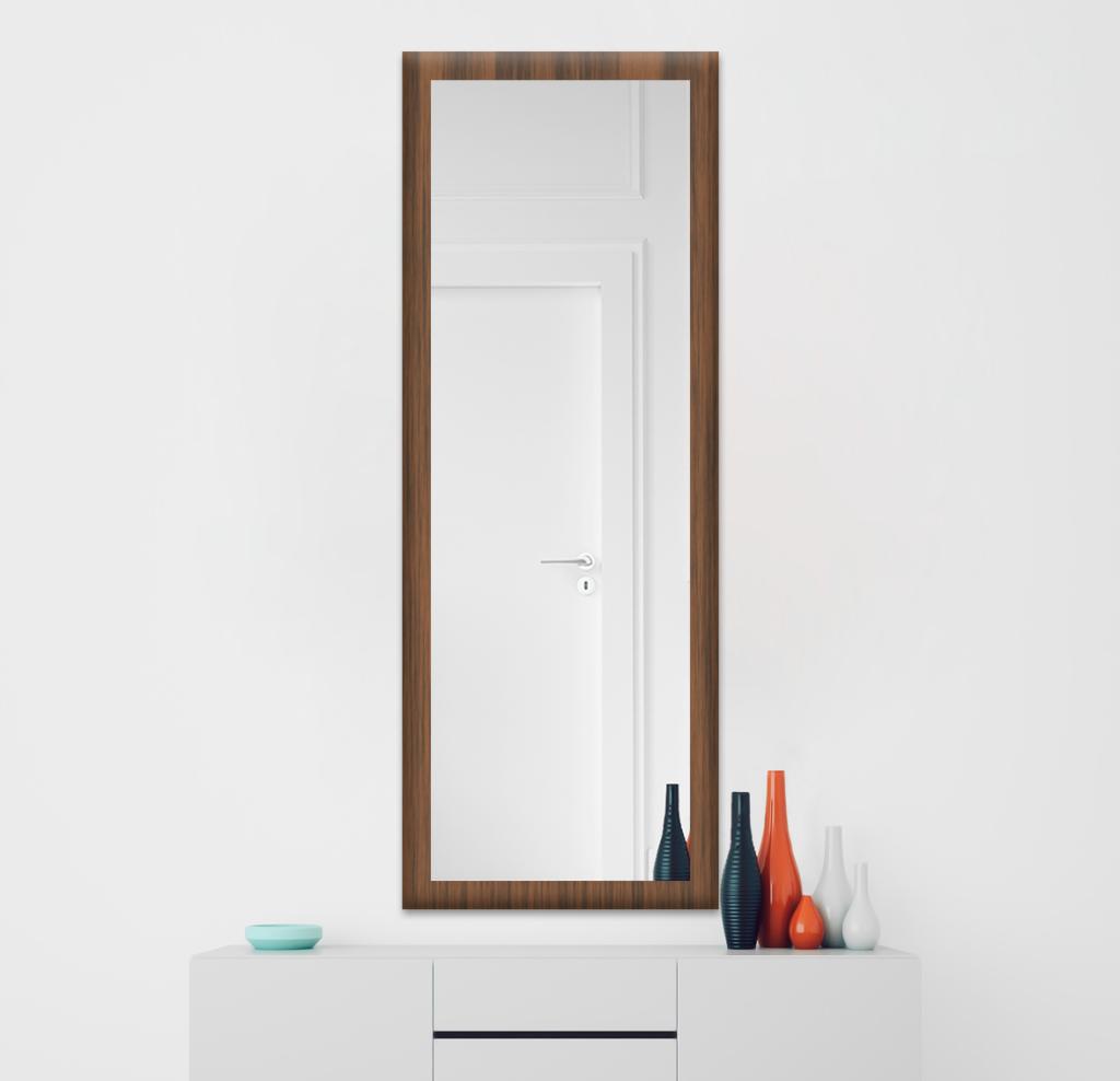 Зеркало 300×1000 мм осветленное в деревянной раме