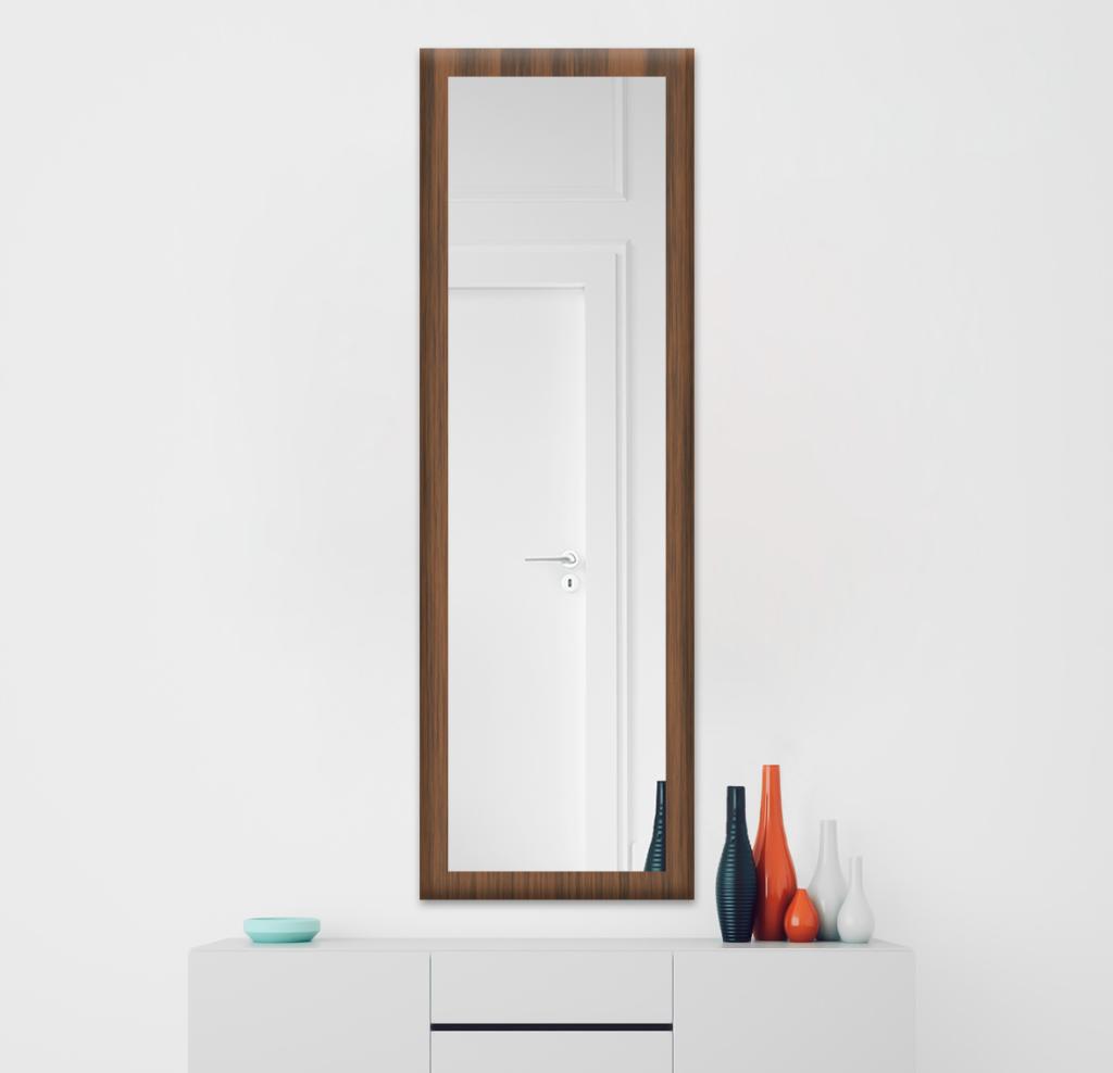 Зеркало 400×1600 мм осветленное в деревянной раме