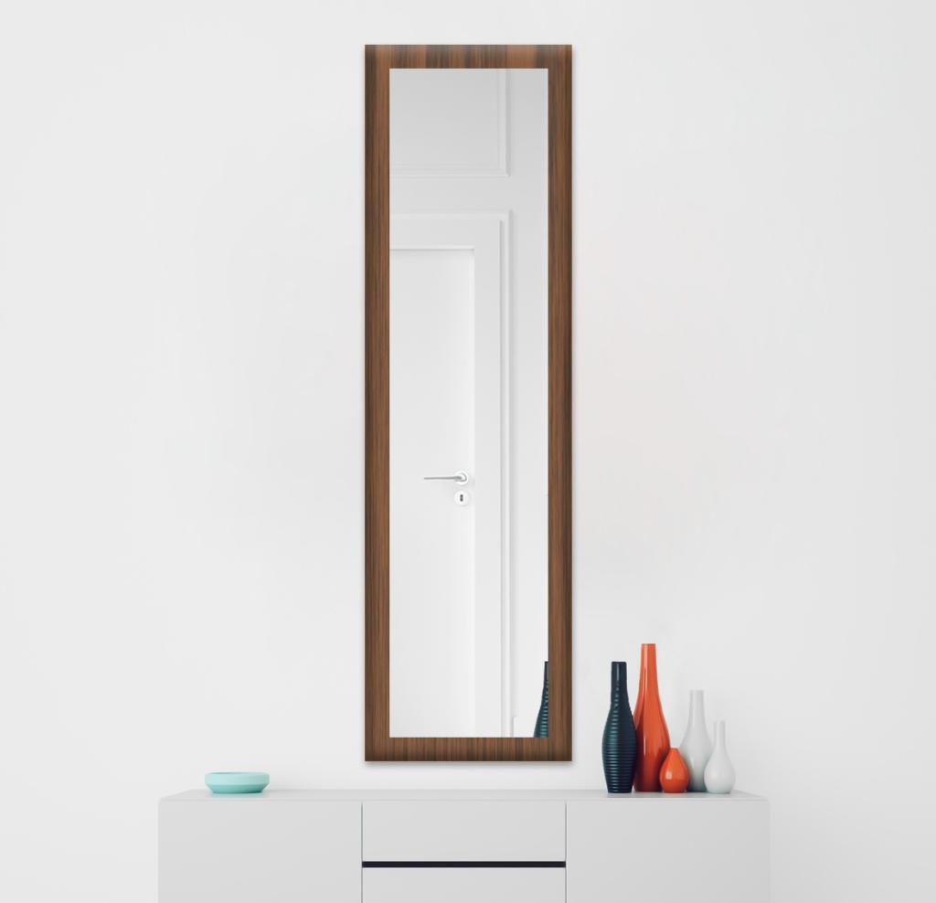 Зеркало 300×1400 мм в деревянной раме