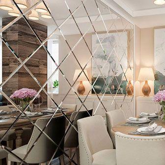 Зеркальное панно – стильная составляющая декора